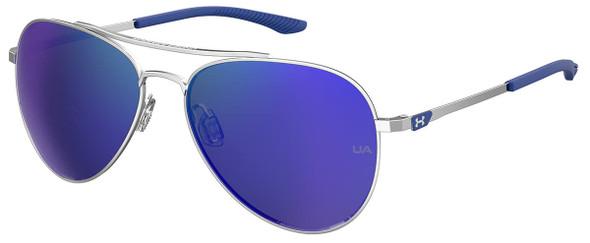 Under Armour Instinct Sunglasses with Palladium 59mm Frame and Blue Mirror Lens UA0007GS-010-Z0