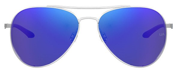 Under Armour Instinct Sunglasses with Palladium 59mm Frame and Blue Mirror Lens UA0007GS-010-Z0 - Front View