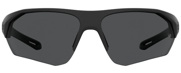 Under Armour Playmaker Sunglasses with Black Frame and Grey Lens UA0001GS-003-KA - Front View