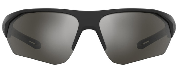 Under Armour Playmaker Sunglasses with Black Frame and Silver Mirror Lens UA0001GS-807-QI) - Front View