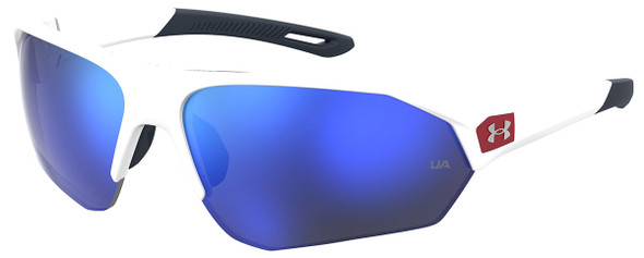 Under Armour Playmaker Sunglasses with White Frame and Baseball Blue Lens UA0001GS-6HT-W1