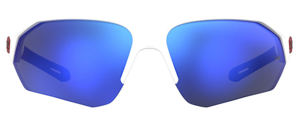 Under Armour Playmaker Sunglasses with White Frame and Baseball Blue Lens UA0001GS-6HT-W1 - Front View