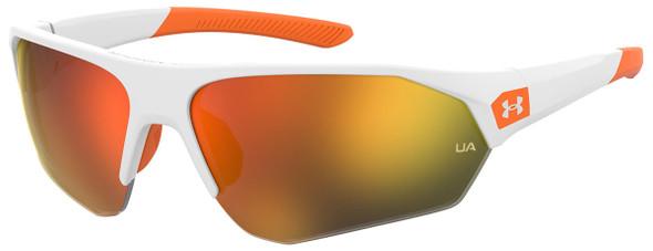 Under Armour Playmaker Jr Sunglasses with White Frame and Baseball Orange Lens UA7000S-IXN-50