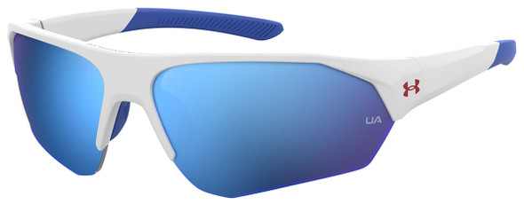 Under Armour Playmaker Jr Sunglasses with White Frame and Baseball Blue Lens UA7000S-6HT-W1