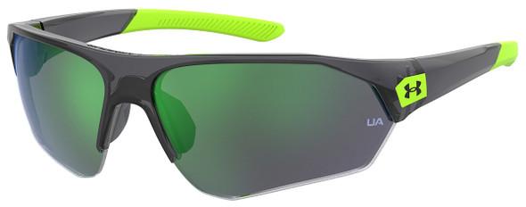 Under Armour Playmaker Jr Sunglasses with Transparent Grey Frame and Green Lens UA7000S-3U5-V8