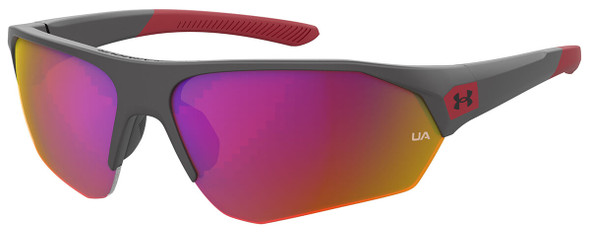 Under Armour Playmaker Jr Sunglasses with Jet Grey Frame and Grey Infrared Lens UA7000S-KB7-B3