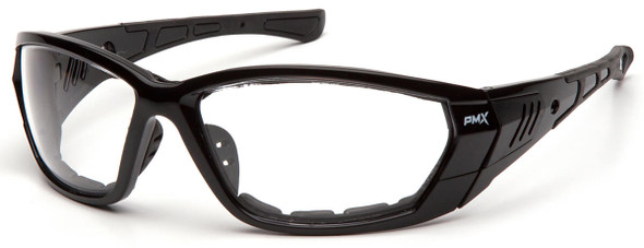 Pyramex Atrex Safety Glasses with Padded Black Frame and Clear Anti-Fog Lens SB10810DT