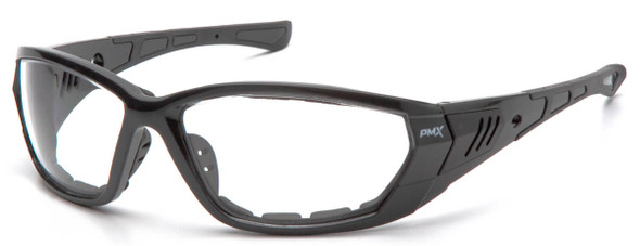 Pyramex Atrex Safety Glasses with Padded Pearl Gray Frame and Clear Anti-Fog Lens SPG10810DT