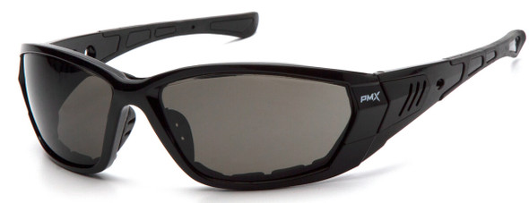 Pyramex Atrex Safety Glasses with Padded Black Frame and Gray Anti-Fog Lens SB10820DT