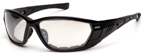 Pyramex Atrex Safety Glasses with Padded Black Frame and Indoor/Outdoor Mirror Anti-Fog Lens SB10880DT