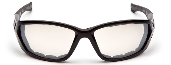 Pyramex Atrex Safety Glasses with Padded Black Frame and Indoor/Outdoor Mirror Anti-Fog Lens SB10880DT - Front View