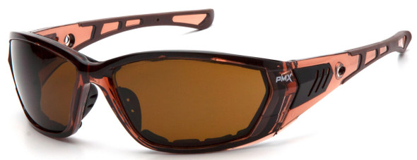 Pyramex Atrex Safety Glasses with Padded Translucent Brown Frame and Coffee Anti-Fog Lens STB10815D
