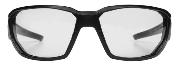 Edge Dawson Safety Glasses with Matte Black Frame and Clear Vapor Shield Lens XD411VS - Front View