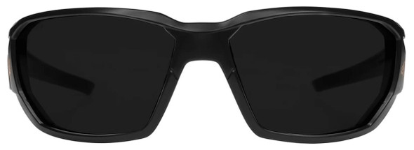 Edge Dawson Safety Glasses with Matte Black Frame and Smoke Vapor Shield Lens XD416VS - Front View