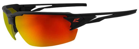 Edge Pumori Safety Glasses with Matte Black Frame and Aqua Precision Red Mirror Lens XPAP419