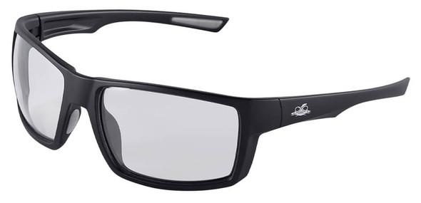 Bullhead Sawfish Safety Glasses with Black Frame and Photochromic Anti-Fog Lens BH26613PFT