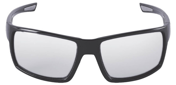 Bullhead Sawfish Safety Glasses with Black Frame and Photochromic Anti-Fog Lens BH26613PFT - Front View