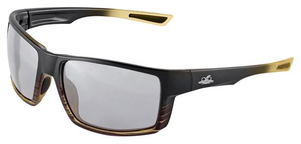 Bullhead Sawfish Safety Glasses with Tortoise Frame and Photochromic Polarized Anti-Fog Lens BH26718PFT