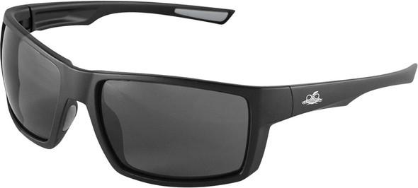 Bullhead Sawfish Safety Glasses with Black Frame and Smoke Anti-Fog Lens BH2663AF