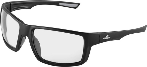 Bullhead Sawfish Safety Glasses with Black Frame and Clear Anti-Fog Lens BH2661AF