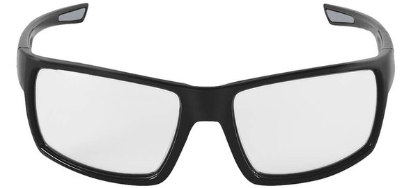 Bullhead Sawfish Safety Glasses with Black Frame and Clear Anti-Fog Lens BH2661AF - Front View