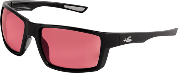 Bullhead Sawfish Safety Glasses with Black Frame and Rose Lens BH2664