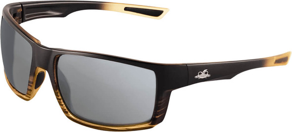 Bullhead Sawfish Safety Glasses with Tortoise Frame and Silver Mirror Anti-Fog Lens BH2677AF