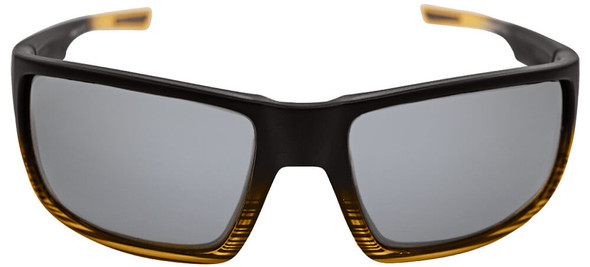 Bullhead Sawfish Safety Glasses with Tortoise Frame and Silver Mirror Anti-Fog Lens BH2677AF - Front View