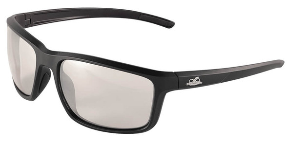 Bullhead Pompano Safety Glasses with Black Frame and Indoor-Outdoor Anti-Fog Lens BH2766AF