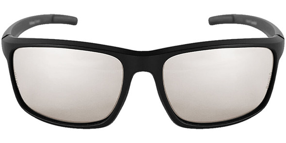 Bullhead Pompano Safety Glasses with Black Frame and Indoor-Outdoor Anti-Fog Lens BH2766AF - Front View