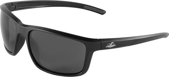 Bullhead Pompano Safety Glasses with Black Frame and Smoke Anti-Fog Lens BH2763AF