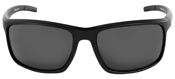 Bullhead Pompano Safety Glasses with Black Frame and Smoke Anti-Fog Lens BH2763AF - Front View