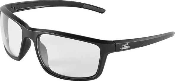 Bullhead Pompano Safety Glasses with Black Frame and Clear Anti-Fog Lens BH2761AF