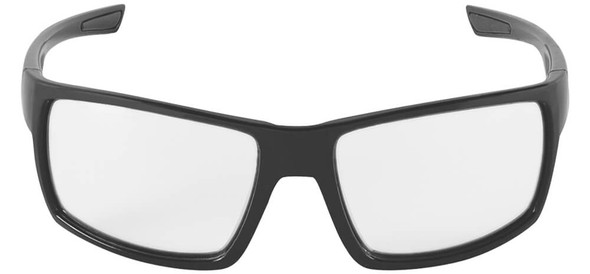 Bullhead Pompano Safety Glasses with Black Frame and Clear Anti-Fog Lens BH2761AF - Front View