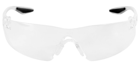 Bullhead Discus Safety Glasses with Clear Lens BH2811 - Front View