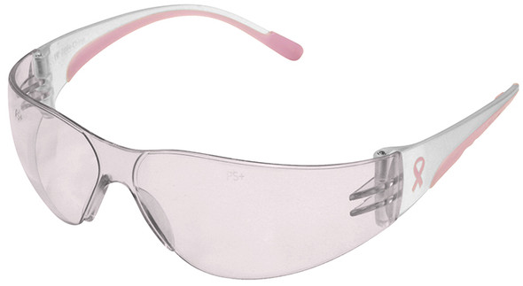 Bouton Eva Petite Women's Safety Glasses with Pink Temple Trim and Pink #1 Lens
