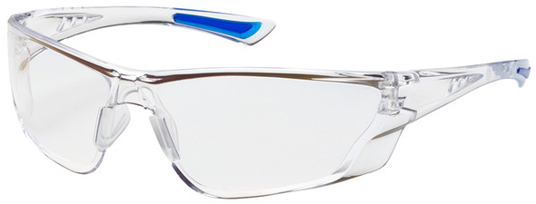 Bouton Recon Safety Glasses with Clear Temple and Clear Anti-Reflective Lens
