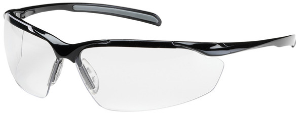 Bouton Commander Safety Glasses with Black Frame and Clear Anti-Fog Lens