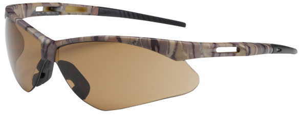 Bouton Anser Safety Glasses with Camouflage Frame and Brown Lens 250-AN-10121
