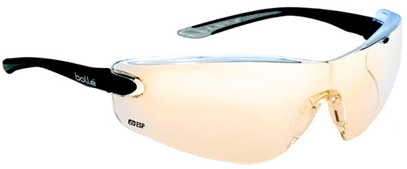 Bolle Cobra Safety Glasses with Black Temples and ESP Anti-Scratch and Anti-fog Lens