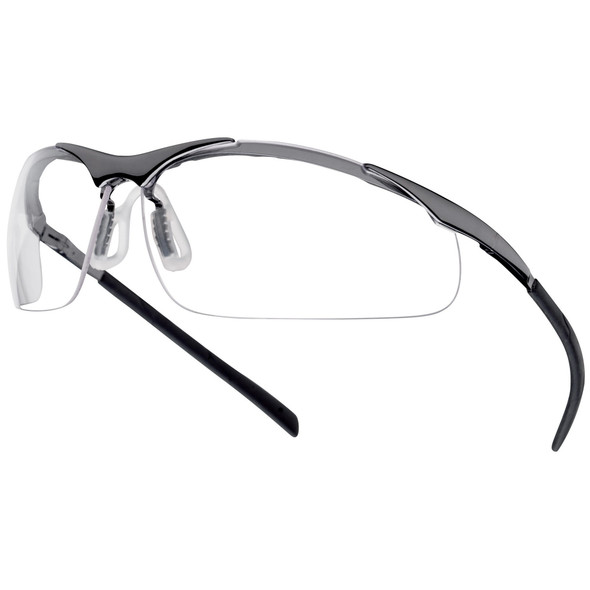 Bolle Contour Metal Safety Glasses with Clear Frame 40049