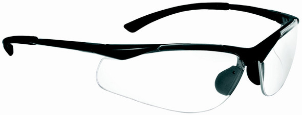 Bolle Contour Safety Glasses with Gunmetal Frame and Clear Anti-Scratch and Anti-Fog Lenses