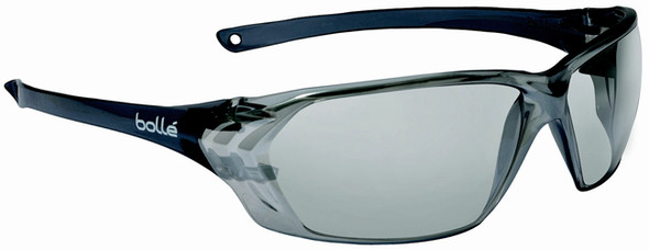 Bolle Prism Safety Glasses with Black Temples and Silver Mirror Lens