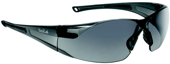 Bolle Rush Safety Glasses with Smoke Anti-Scratch and Anti-Fog Lens 40071