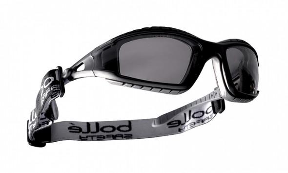 Bolle Tracker Safety Glasses Black Frame Smoke Anti-Fog Lenses 40086