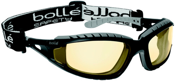 Bolle Tracker Safety Glasses Black Frame Yellow Anti-Fog Lenses 40087
