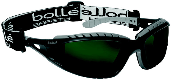 Bolle Tracker Safety Glasses with Black Frame and IR Shade 5 Anti-Scratch Lenses 40089