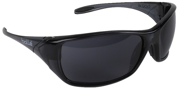 Bolle Voodoo Safety Sunglasses with Shiny Black Frame and Smoke Lens