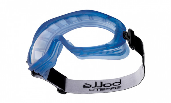Bolle 40092 Atom Safety Goggle with Blue Frame and Clear Anti-Fog Lens