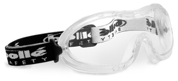 Bolle Nitro Safety Goggle with Translucent Frame and Clear Anti-Scratch and Anti-Fog Lens